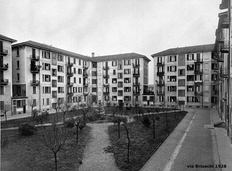Il fabbricato di via F. Brioschi 93, cortile interno - 1928