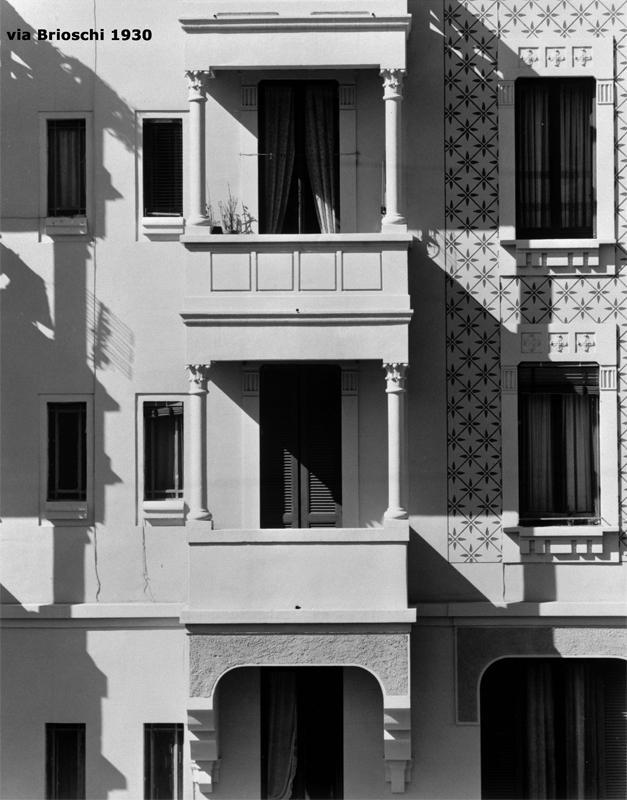 Il fabbricato di via F. Brioschi, 93, particolare di facciata - 1930