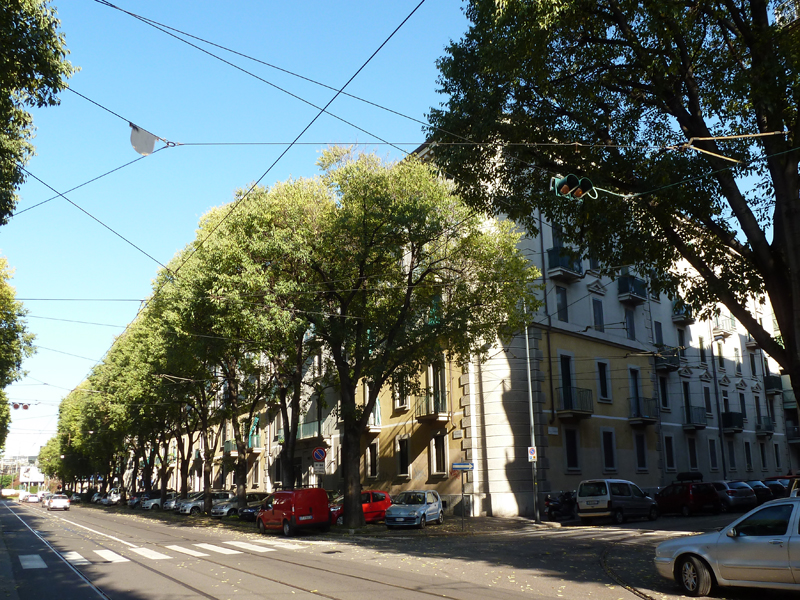 via Teodosio angolo via E. Camerini - 2013